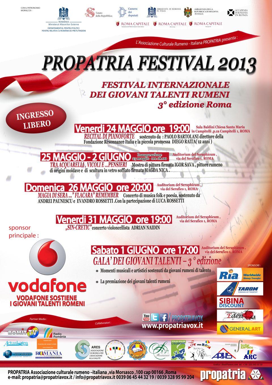 Propatria Programma 2013