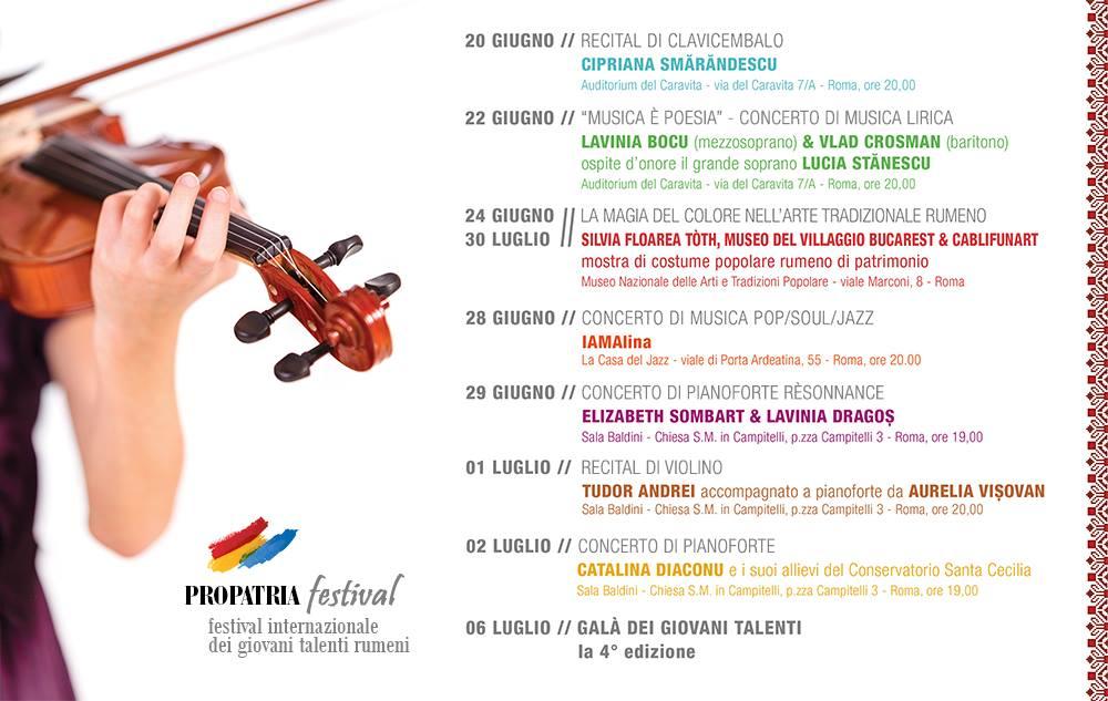 Propatria 2014 - Festival Internazionale dei Giovani Talenti Rumeni