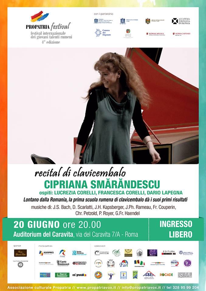 Recital di Clavicembalo di Cipriana Smarandescu